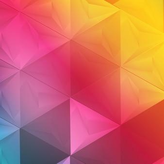 Векторный фон абстрактные многоугольники треугольников.