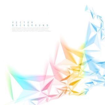 ベクトル色の背景抽象的なポリゴンの三角形。