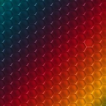 ベクトル抽象的な六角形のデザインテンプレート。