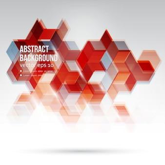 ベクトル抽象的なデザイン六角形の背景