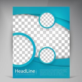 Абстрактная векторная брошюра современных листовок.