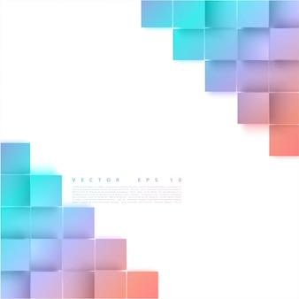Вектор абстрактные геометрические фигуры из серых кубов.