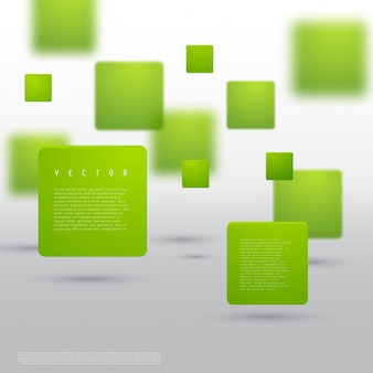 Вектор абстрактные геометрические фигуры из зеленых кубов.