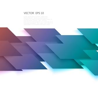 ベクトル灰色の斜めのロムからの抽象的な形状。