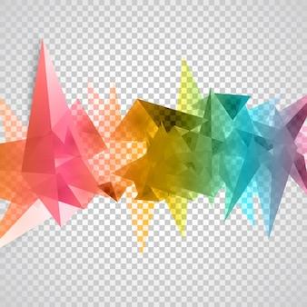 ベクトル三角形パターンの背景。