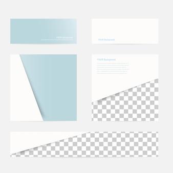 ベクトルのバナーと四角。カラーセット