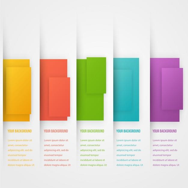 Абстрактный баннер шаблона треугольника. набор цветов