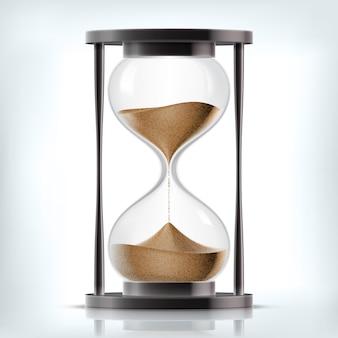 Вектор прозрачные песочные песочные часы