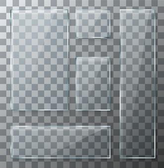 Набор прозрачных стеклянных пластин