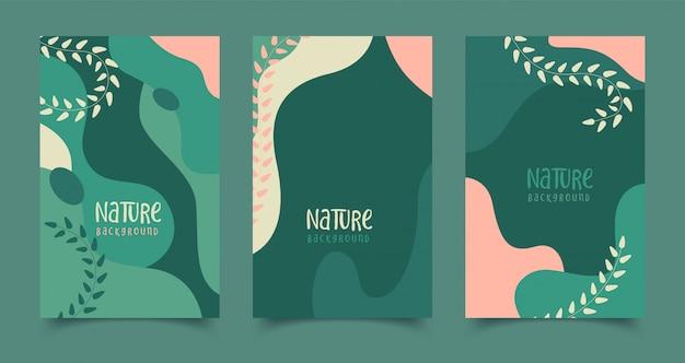 Набор абстрактных творческих универсальных художественных шаблонов.