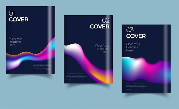 Дизайн обложки книги, годовой отчет, журнал. деловой набор. иллюстрация