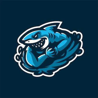 Шаблон логотипа талисман игровой талисман