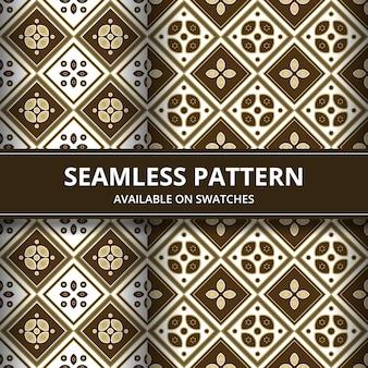 Элегантный традиционный батик бесшовный фон фон. роскошный и классический мотив для обоев фона.