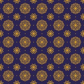 Мандала бесшовные узор фона обои. элегантный традиционный мотив. люкс геометрический. классический батик.