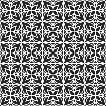 古典的なバティックのシームレスなパターン背景。豪華な葉のマンダラの壁紙。エレガントな伝統的な花のモチーフ