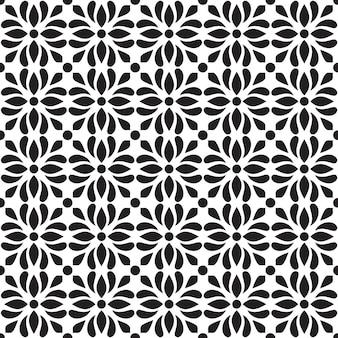 古典的なバティックのシームレスなパターン背景。豪華なマンダラの壁紙。エレガントな伝統的な花のモチーフ