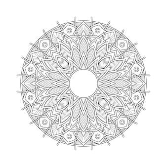 Абстрактный мандала арабески раскраски страницы книжной иллюстрации. футболка . цветочные обои фон