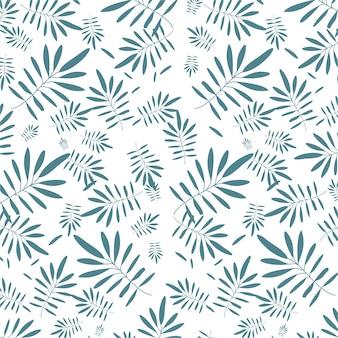 白い背景に花のシームレスなパターン