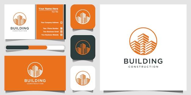 建物の建設のロゴインスピレーション。