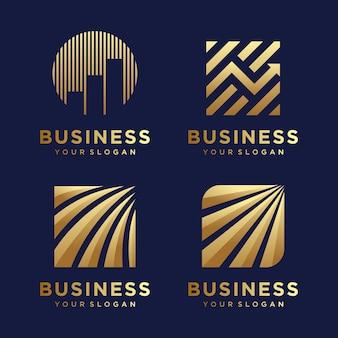 抽象的な会計財務管理のロゴデザインテンプレートです。