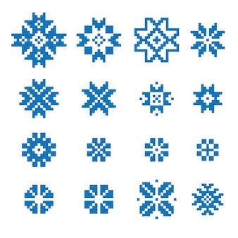 民族的な幾何学的サインセット
