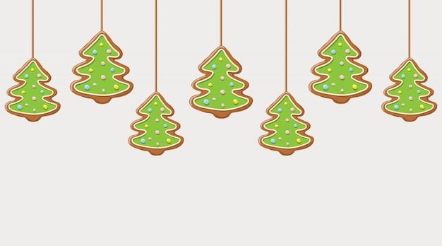 ハンギングクリスマスツリークッキー