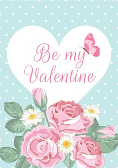 バレンタインの日グリーティングカード