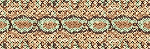 蛇のシームレスパターン。蛇や他の爬虫類の肌のリアルな質感。