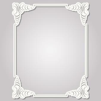 Квадратная рамка в каллиграфическом стиле ретро