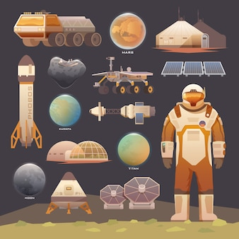 Плоские элементы. исследование космического пространства.