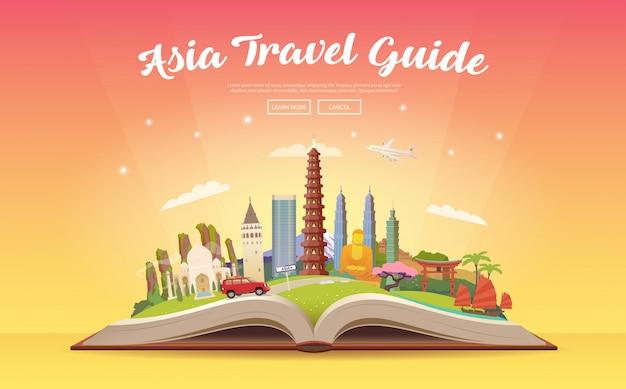 Путешествие в азию. дорожное путешествие.