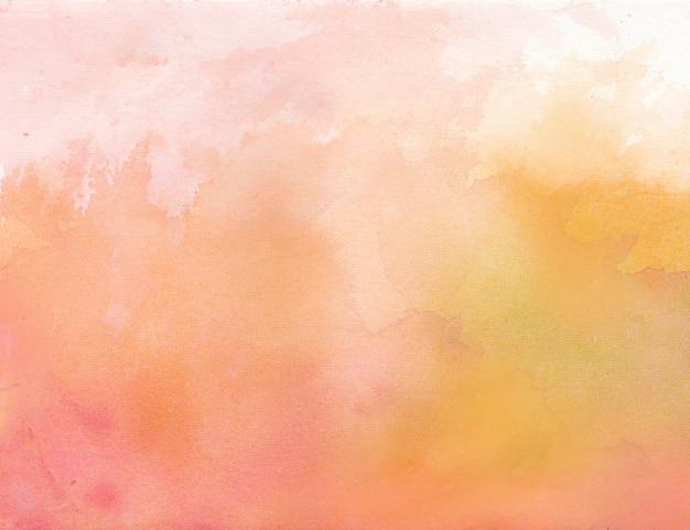 Красно-оранжевый акварельный фон