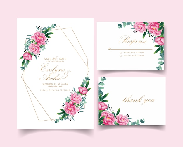 Цветочные приглашения на свадьбу
