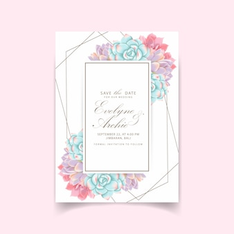 花びら結婚式招待状