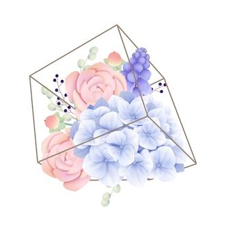 テラリウムのムスカリの花