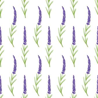 ラベンダーの花と花のパターンの背景のテンプレートデザイン。