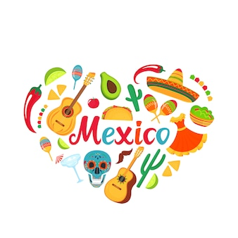 メキシコの全国的なお祝いのための装飾。