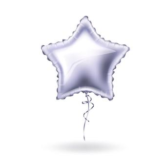 Реалистичный воздушный шар в форме звезды с кружевом