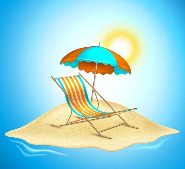 Летние каникулы реалистичный плакат