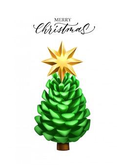 現実的な松ぼっくりクリスマス新年