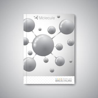 Современный абстрактный шаблон макета для журнала