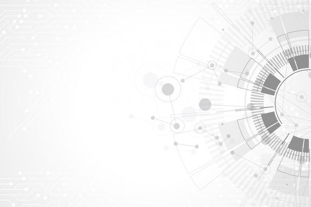 技術回路基板と抽象的な背景。未来のデジタルサークル。