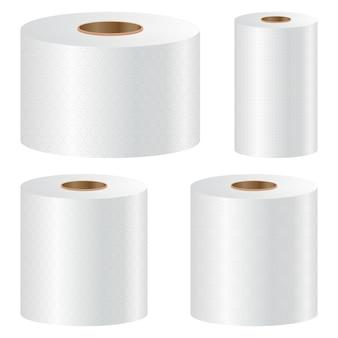 トイレットペーパーは、白い背景の上の図を設定