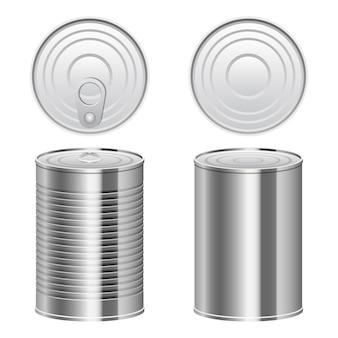 ブリキ缶デザインイラスト分離