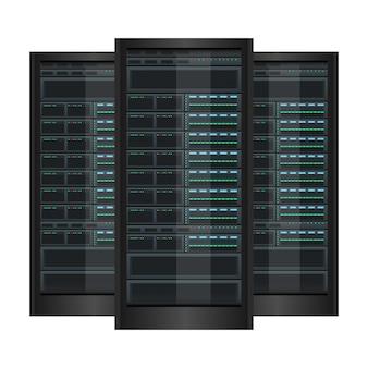 Изолированная иллюстрация дизайна сервера данных