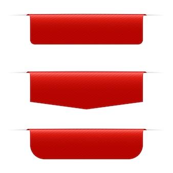 Иллюстрация красного знамени на белом фоне