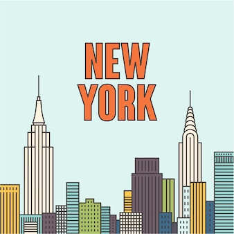 ニューヨークのイラスト