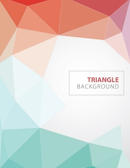 カラフルな多角形カバーデザイン。最小幾何学的パターン