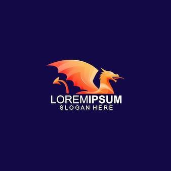 Шаблон логотипа дракона