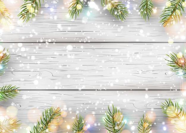 Рождество белое деревянное